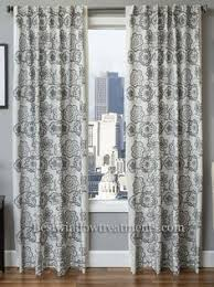 Linen Curtain Panels 108 Logan Linen Style Moroccan Geometric Tile Curtains
