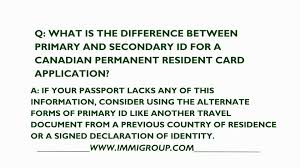 what is the difference between primary and secondary id for a