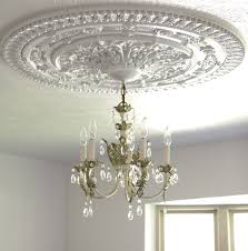 Medallion For Light Fixture Install A Ceiling Medallion Small Notebook