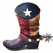Lone Star Western Decor Coupon Amazon Com Texas Lone Star Cowboy Boot With Spur Piggy Bank For