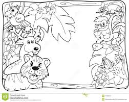 jungle animals coloring page aecost net aecost net