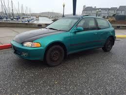 honda hatchback 1993 honda civic hatchback 1993 teal for sale 2hgeh3384ph523613 1993