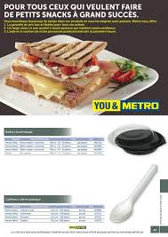 metro cuisine professionnelle solutions metro fr catalogue snack bar page 44 45