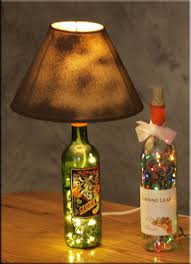 lights made out of wine bottles how to make a l shade easy diy how to make a bottle l