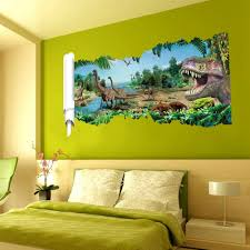 aliexpress com buy 3d dinosaurs through the wall stickers aliexpress com buy 3d dinosaurs through the wall stickers jurassic park home decoration diy cartoon kids room 1458 wall decal movie mural art from