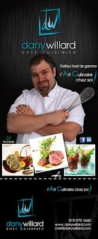 chef de cuisine à domicile encart flyer publicitaire affiche dépliant cartes affaires