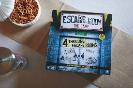 escape room at home family game night behind the camera and