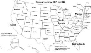 map us states world economies map of us states compared to other countries startribune