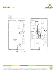 Center Hall Colonial Floor Plans Bellevue Station Parkside Builders