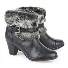 womens boots pavers pavers womens boot black ankle boot with faux fur s4food eu