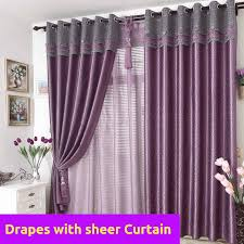 Purple Drapes Or Curtains Blockout Purple Grey Gray Valance Bedroom Curtain Rods Fabric