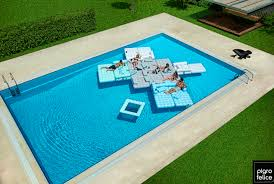 Swimming Pool Furniture by Use This Inflatable Furniture To Build A Floating Island Mental