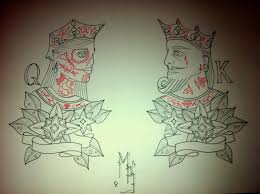 queen king traditional tattoo designs in 2017 real photo