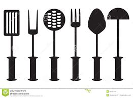 outil de cuisine collection d outil de cuisine silhouette illustration stock