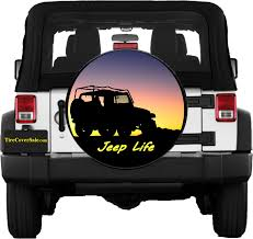 jeep life tire cover photo quality printing on marine grade vinyl exact fit design