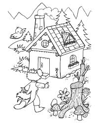 bluebonkers 3 pigs coloring sheets wolf arrives