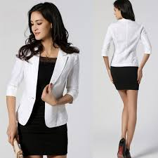 women one button slim casual business blazer suit jacket coat