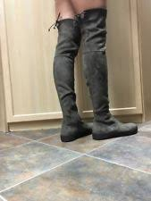 s knee boots size 9 s suede flat 0 to 1 2 in knee block boots ebay