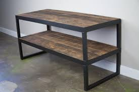 buy a hand made industrial tv stand reclaimed wood u0026 steel