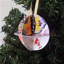 recycled card ornament craft
