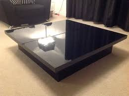 black coffee table with storage gloss black coffee table square coffee table black square gloss