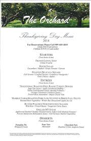 thanksgiving day menu 2014 at the orchard at doubletree by