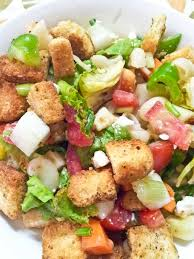 summer vegetable lettuce u0026 pasta salad recipe with croutons by