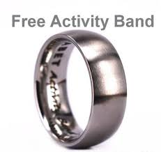 titanium band antler titanium wedding band lined with antler wood 8mm