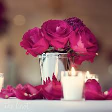 Rose Bouquet Fuchsia 9in Best 25 Silver Wedding Centerpieces Ideas On Pinterest Table