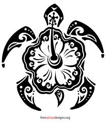 turtle hibiscus tattoo turtle tattoos polynesian and hawaiian