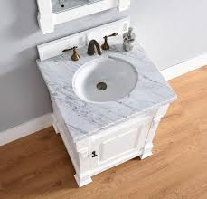 abstron 26 inch white finish single sink bathroom vanity optional