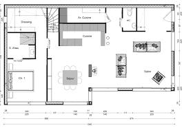 plan salon cuisine sejour salle manger exciting amenagement cuisine salon salle a manger concept