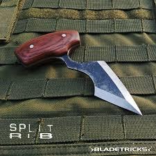 Bladetricks Split Rib Push Dagger Double Edge U0026 Wood Version