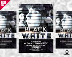download black and white club flyer free psd psddaddy com