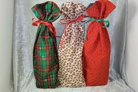 wine bottle gift bags christmas collection 3 fabric wine bottle gift bags ted s woodshop