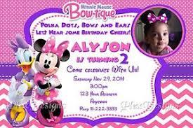 minnie s bowtique minnie mouse bowtique birthday party invitations ebay