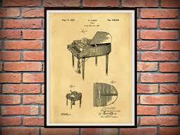 patent 1937 wurlitzer piano grand piano music art print