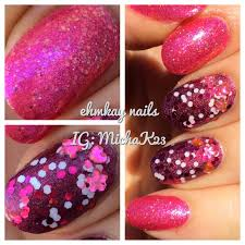 ehmkay nails girly pink manicure with opi nail lacquer
