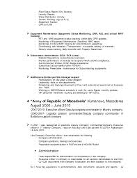 Infantry Job Description Resume by Cv Resume Dejan Mladenovski 1 Jan 15 2014