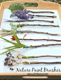 Kids Fun Craft - nature paintbrushes stick crafts nature crafts and outdoor art