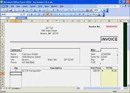 Excel Invoice Template 2003 Invoice Template Excel 2003 Resume Templates