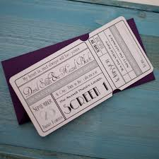 unique cinema ticket wedding invitation with wallet vintage
