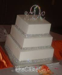 wedding cakes with bling 13 square wedding cakes with rhinestones photo wedding cake with