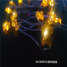 amber mini led christmas lights 2m 20 mini led battery operated lights gingerbread man outdoor