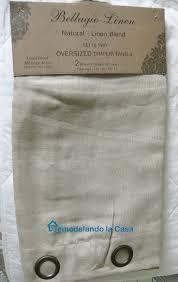Linen Burlap Curtains Remodelando La Casa How To Blackout Line Store Bought Drapes No Sew