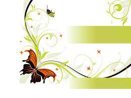 floral butterfly design backgrounds for presentation ppt