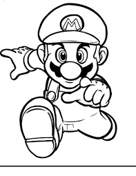 free printable coloring pages mario characters super mario