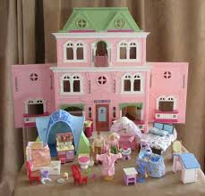Fisher Price Doll House Furniture Loving Family Victorian Mansion Pink Grand Dollhouse Lot Furniture