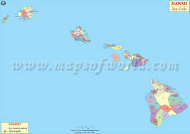 map of hawaii cities hawaii zip code map hawaii postal code