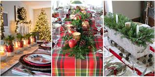 Decoration For Christmas Dinner by 49 Best Christmas Table Settings Decorations And Centerpiece